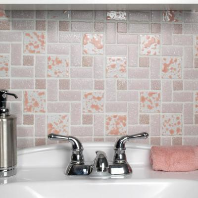 Academy Pink 12 in. x 12 in. Porcelain Mosaic Tile (9.79 sq. ft. / Case)