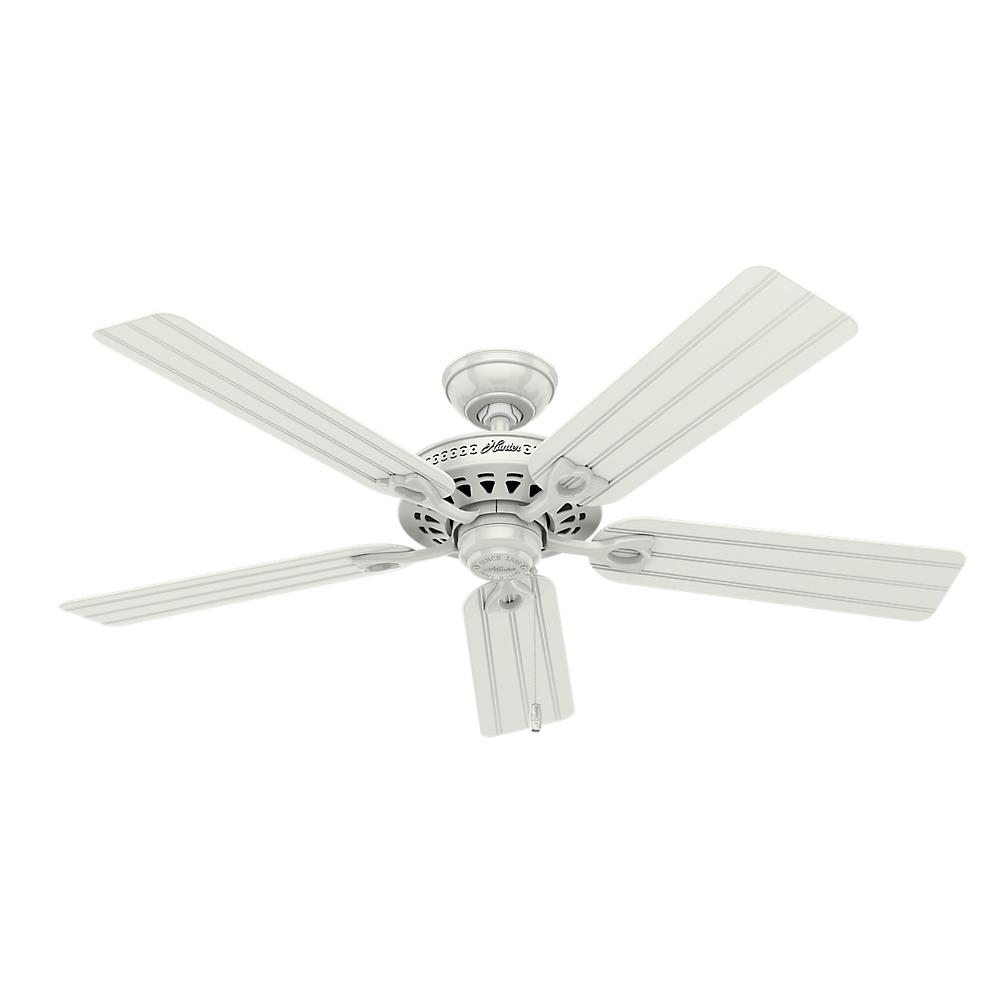 Hunter Beachcomber 52 in. Indoor White Ceiling Fan with ...