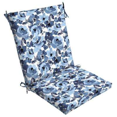 Garden Delight Outdoor High Back Dining Chair Cushion