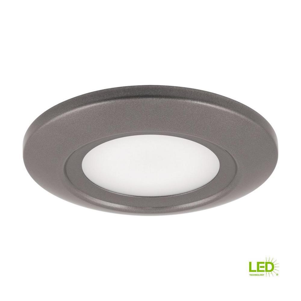 12-Watt Metallic Gray Integrated LED Flushmount