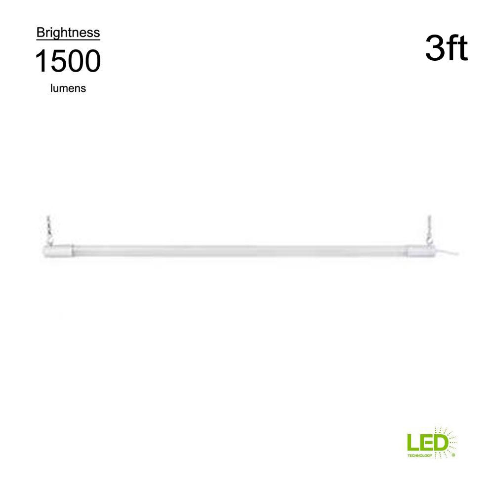 4000K 3 ft. White Integrated LED Shop Light Bar (with on/off