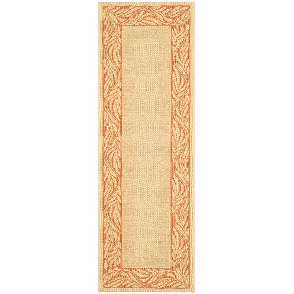 Courtyard Natural/Terracotta 2 ft. 3 in. x 6 ft. 7 in.