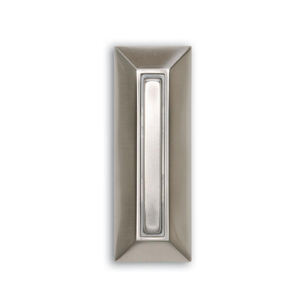 Iq America Wired Lighted Door Bell Push Button Deco White