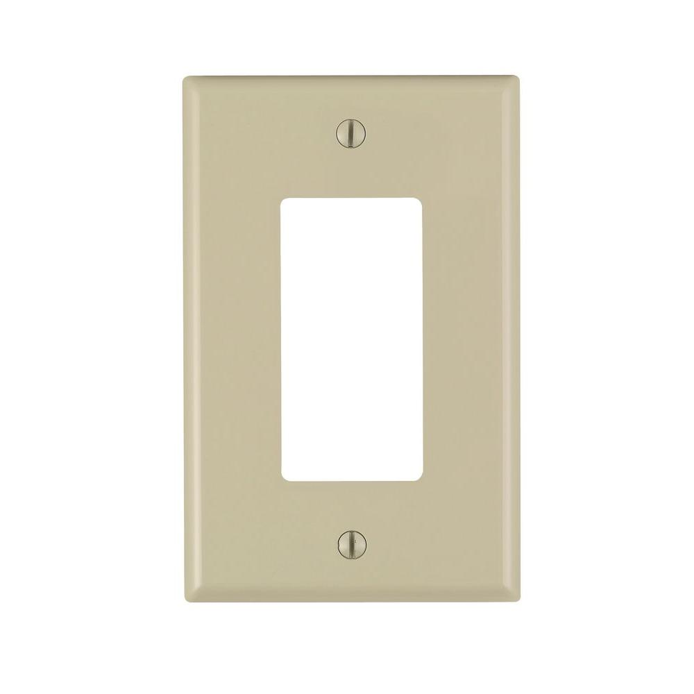 Decora 1-Gang Midway Nylon Wall Plate, Ivory