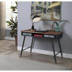 4D Concepts Forester Brown Rustic Wood and Metal Collection Desk