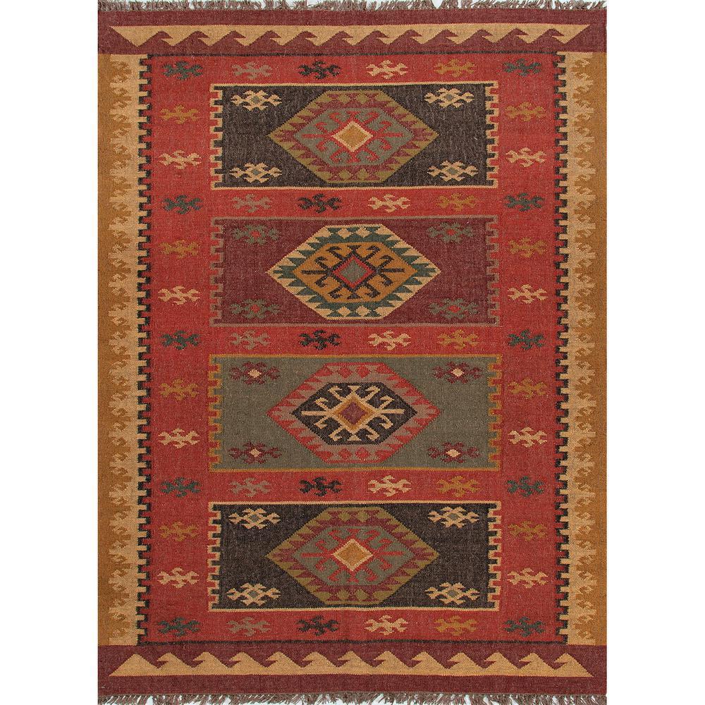 Flat-Weave Zinfandel 5 ft. x 8 ft. Tribal Area Rug