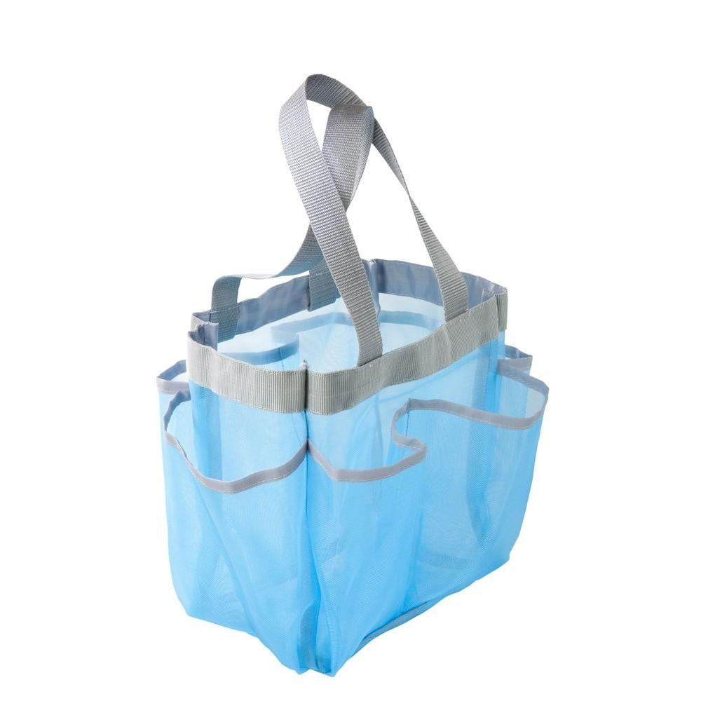 Honey-Can-Do Blue 6-Pocket Shower Tote-SFT-01103 - The Home Depot