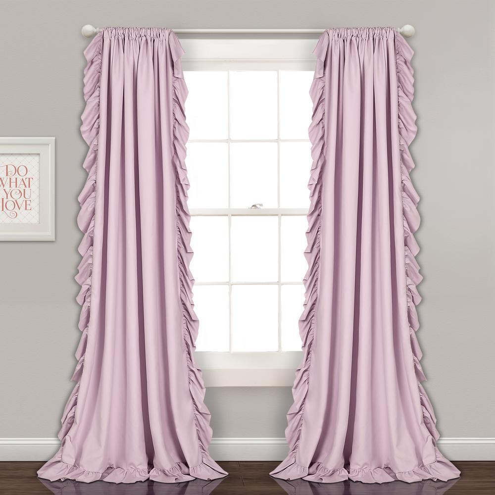"Reyna Window Panels Lilac 84"" x 54"" 2-Pc Set 100% Polyester"