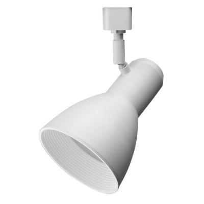 Step Baffle 1-Light White Track Lighting