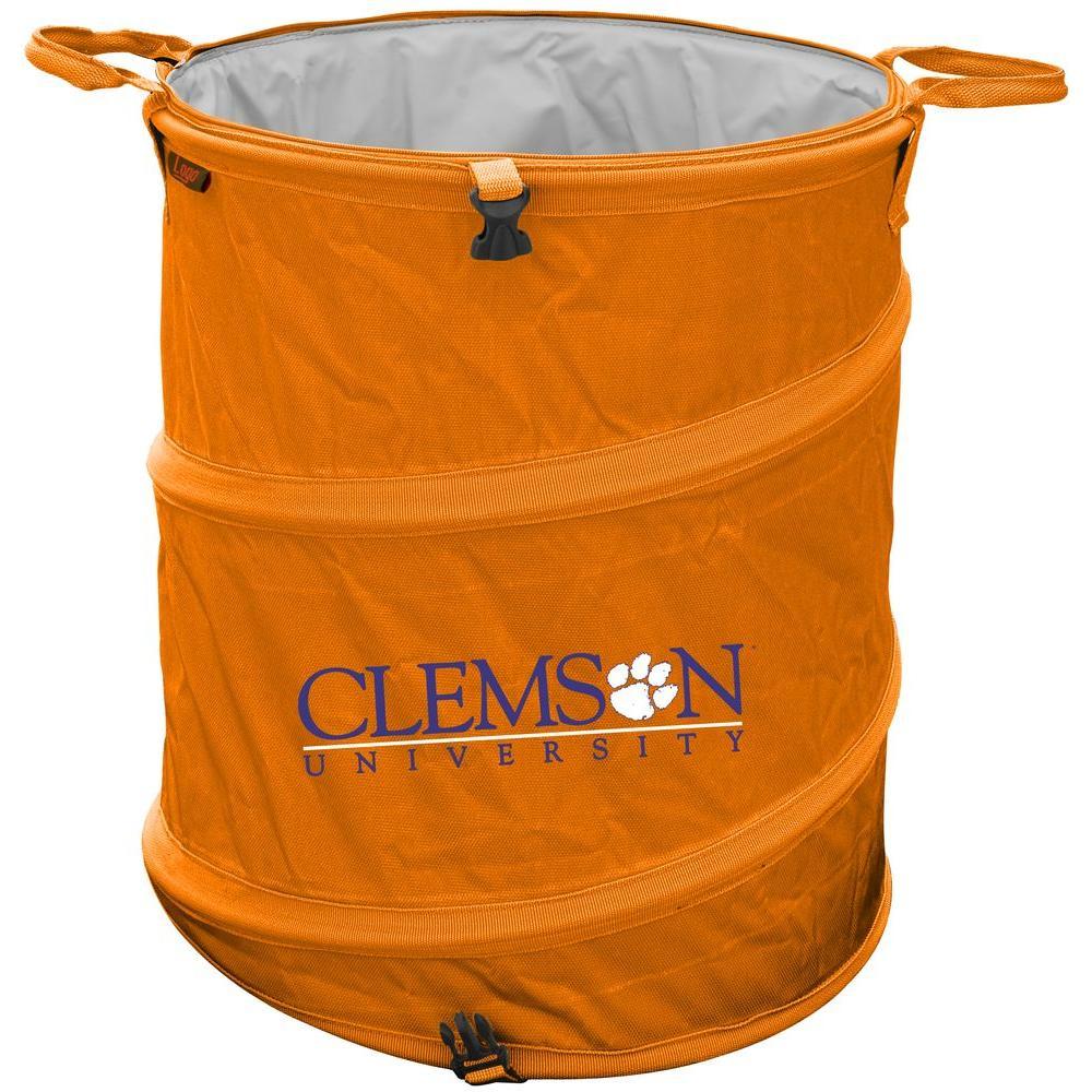 Logo Clemson 43 qt. Soft-Side Cooler / Trash Can-DISCONTINUED
