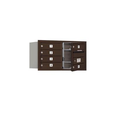 3700 Horizontal Series 6-Compartment Recessed Mount Mailbox
