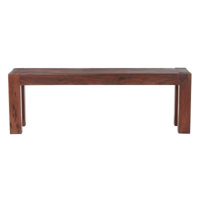 Edmund Distress Walnut Dining Bench