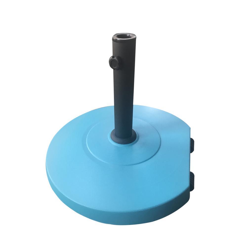 Achill 62.06 lbs. Concrete Patio Umbrella Base in Teal