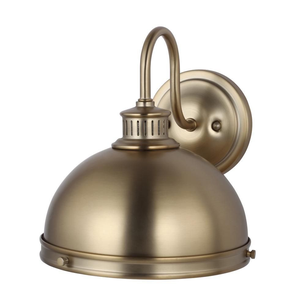 Pratt Street Sconces 1-Light Satin Bronze Sconce with LED Bulb