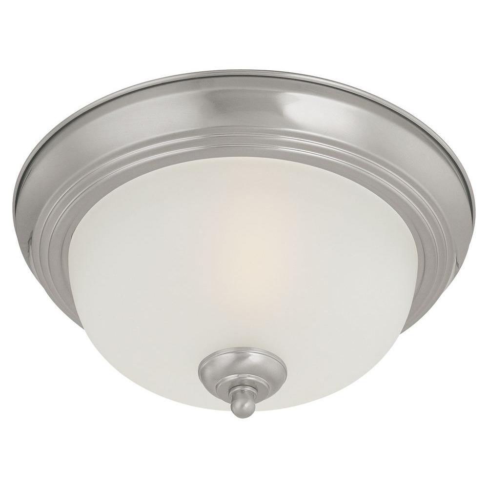 3-Light Brushed Nickel Ceiling Flushmount