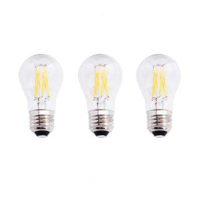 60-Watt Equivalent A15 Dimmable Energy Star Clear Filament Vintage Style LED Light Bulb Daylight (3-Pack)