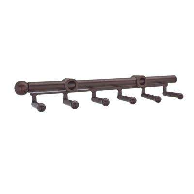 9-Hook Oil Rubbed Bronze Pull-Out Belt Scarf Rack