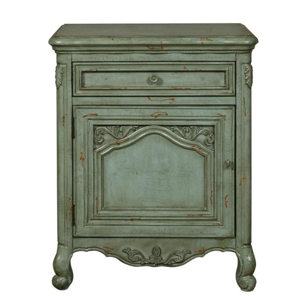 Accentrics Home Distressed Green Ornate Accent Door Chest