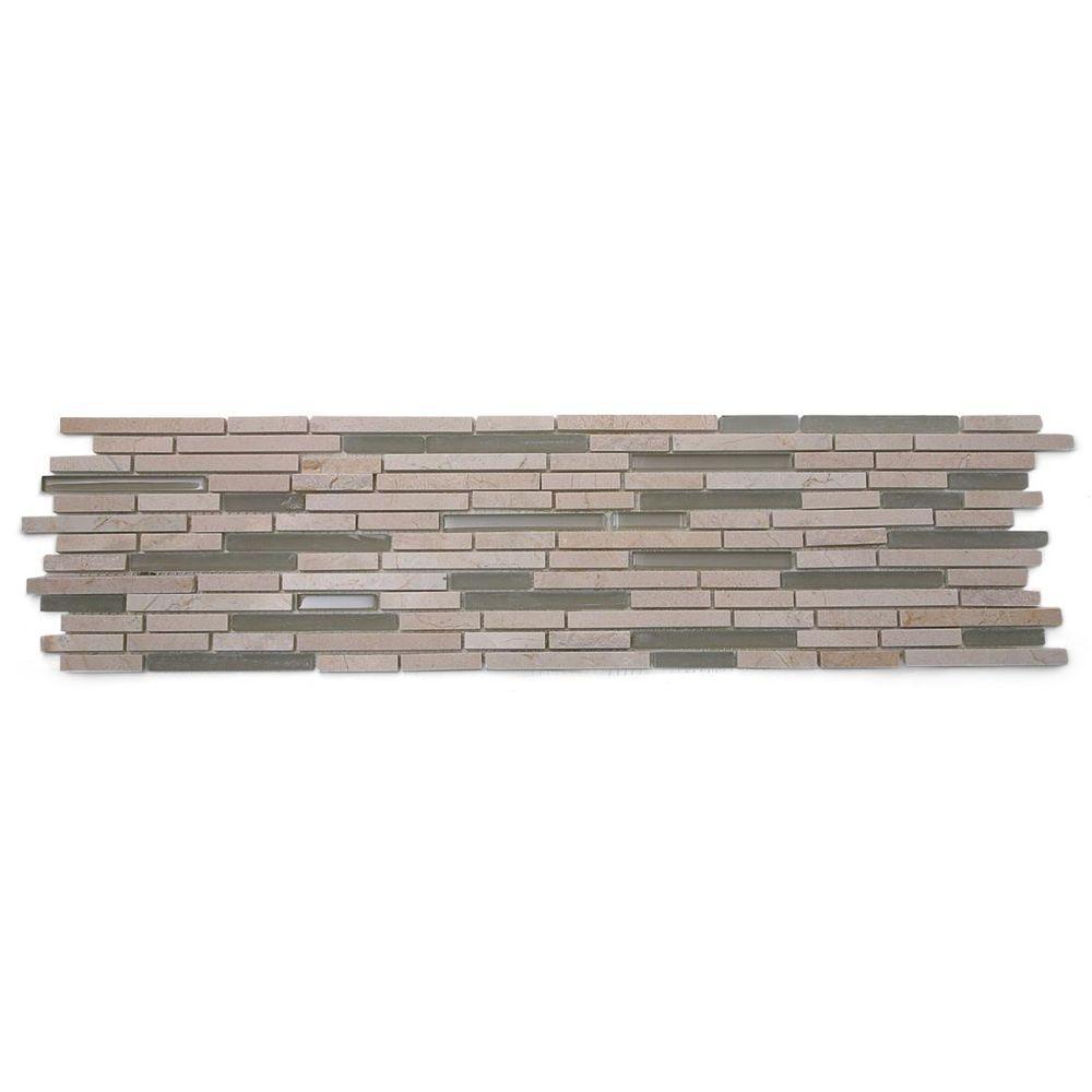 Chorus Crema Marfil Marble Mosaic Tile - 6 in. x 6