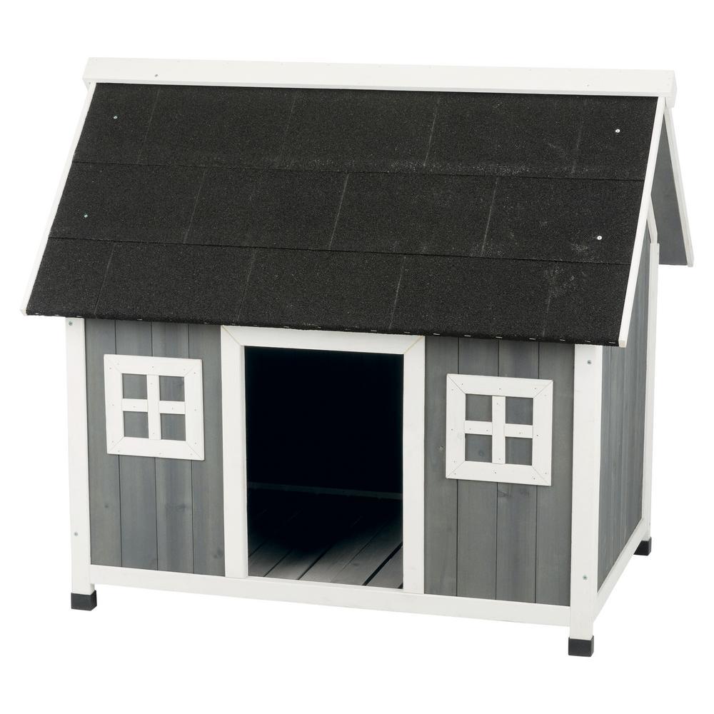 40.5 in. x 27.5 in. x 35.75 in. Barn Style Dog House - Medium/Large