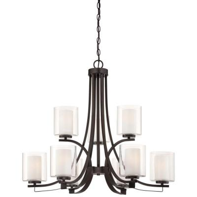 Parsons Studio 9-Light Smoked Iron Chandelier