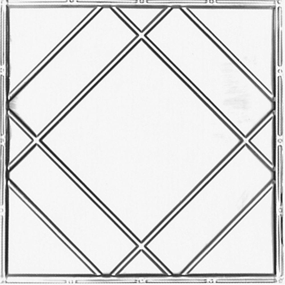 shanko 2 ft x 2 ft lay in suspended grid tin ceiling tile in bare Weather Channel Tile lay in suspended grid tin ceiling tile