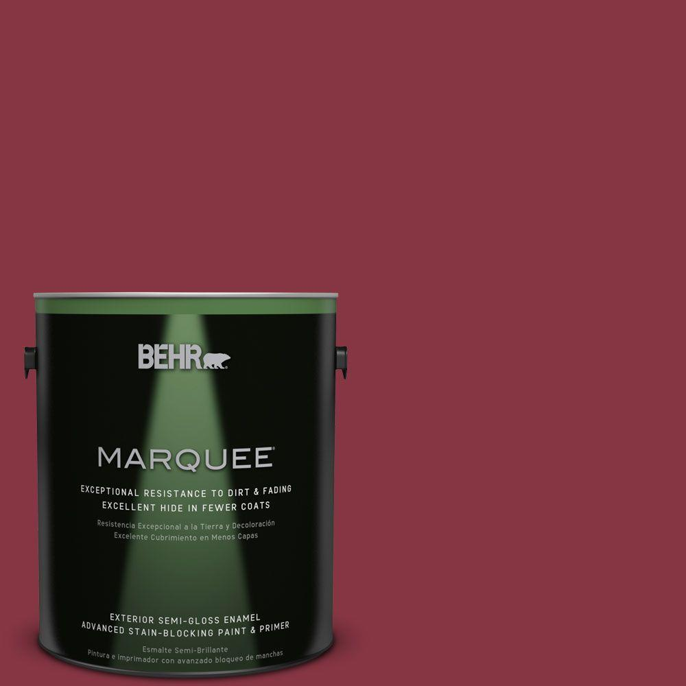 BEHR MARQUEE 1-gal. #S-H-120 Antique Ruby Semi-Gloss Enamel Exterior Paint