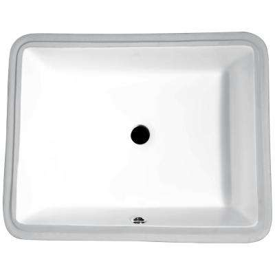 Dahlia Series 7.25 in. Ceramic Undermount Sink Basin in White
