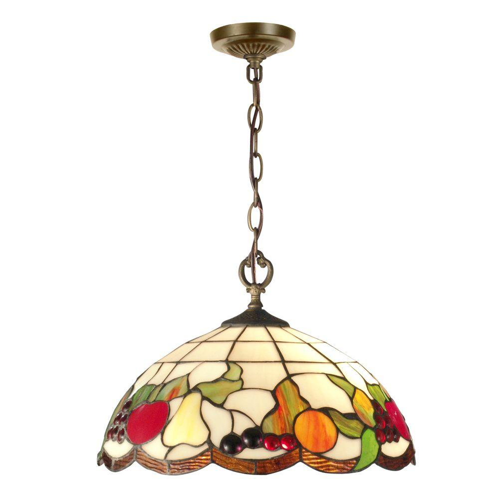 Springdale Lighting Fruit 2-Light Antique Brass Hanging Pendant ...
