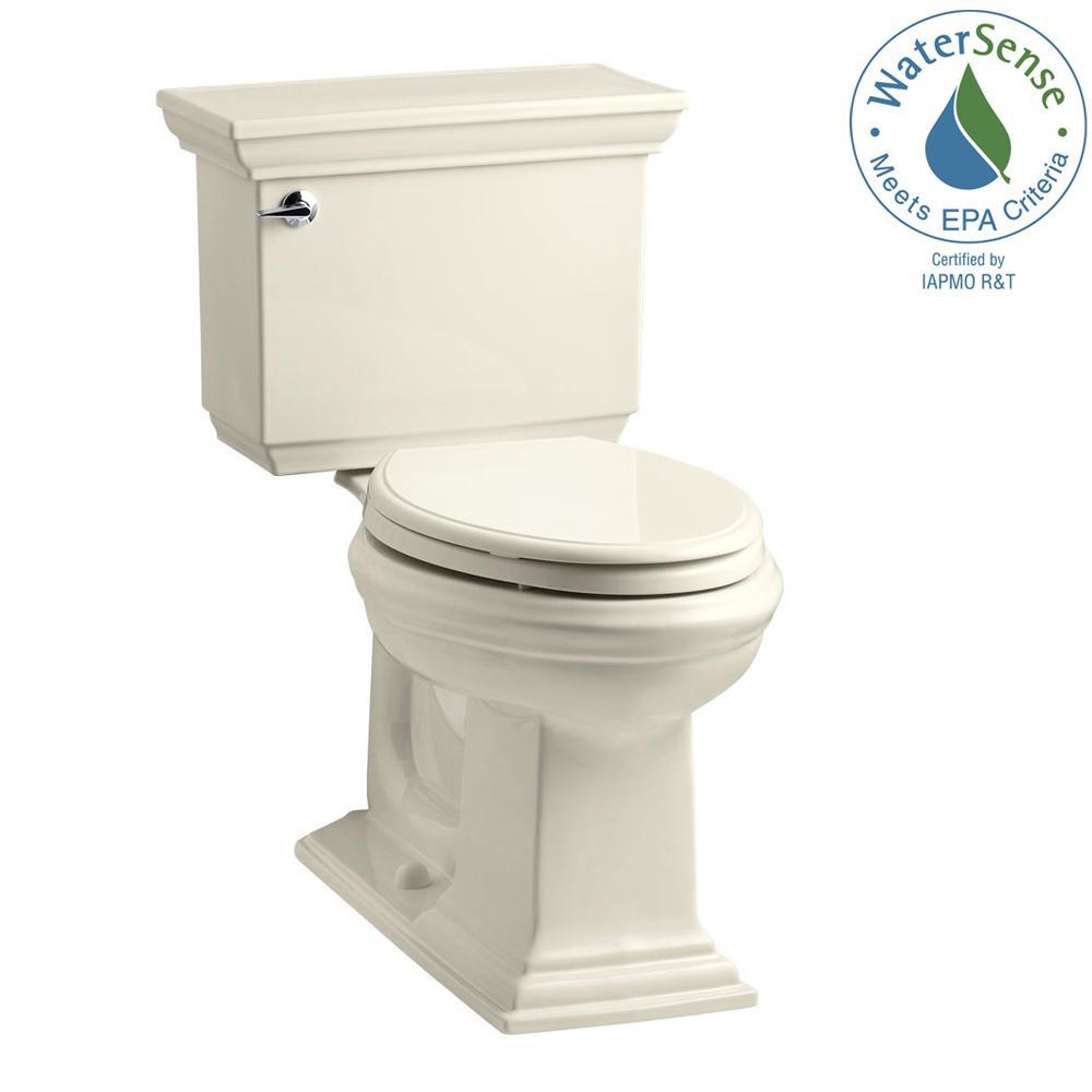 Memoirs Stately 2-piece 1.28 GPF Single Flush Elongated Toilet with AquaPiston Flush Technology in Almond