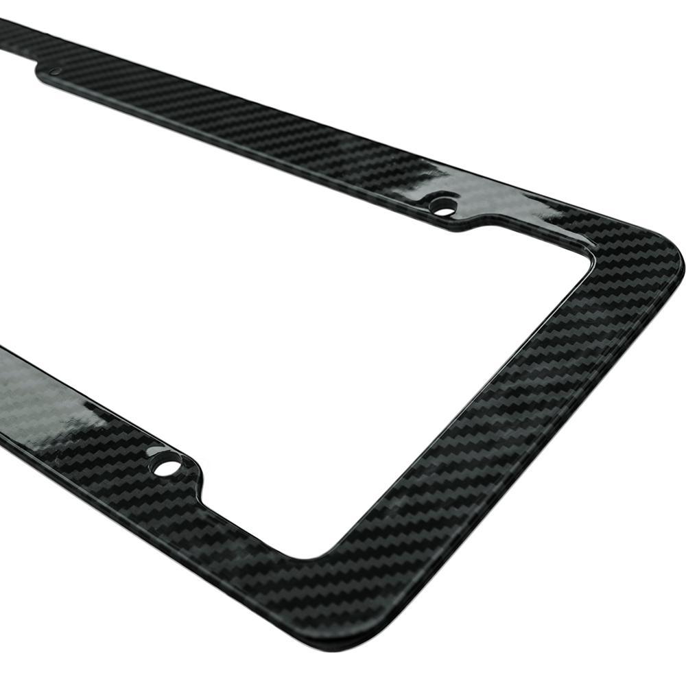 Plastic Carbon Fiber Styled License Plate Frame