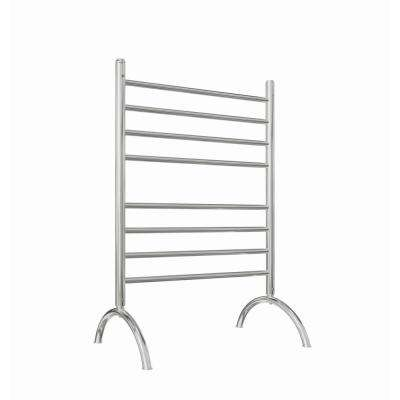 Essentia 8-Bar Freestanding Plug-in Towel Warmer in Polished Stainless Steel