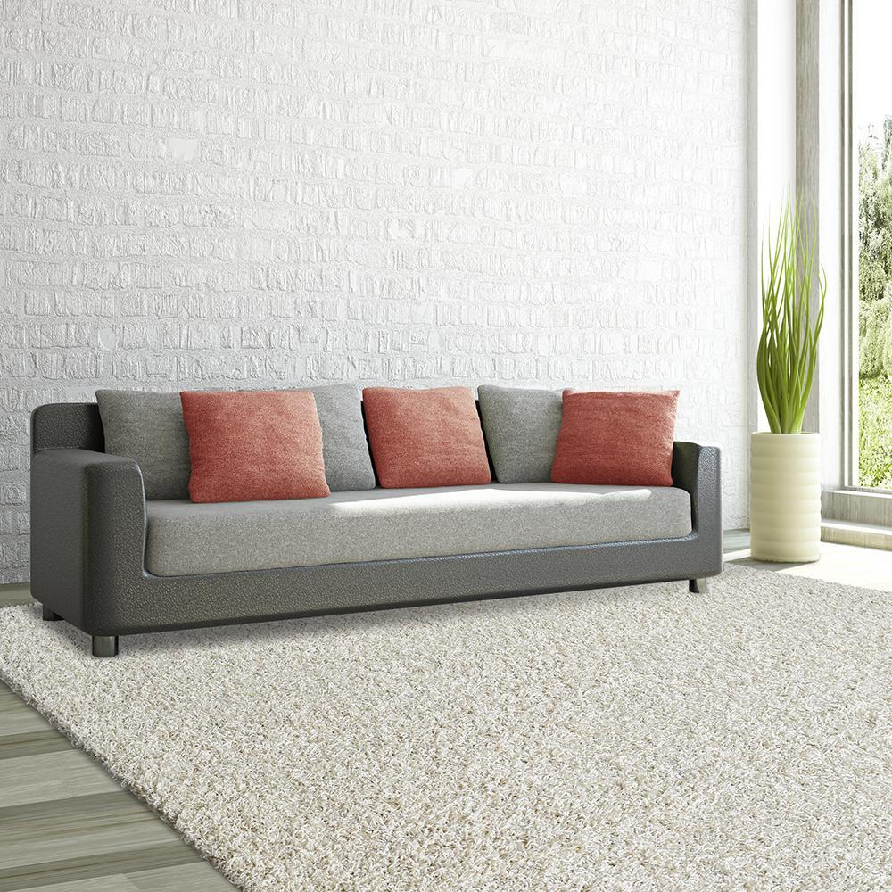 Lanart Comfort Shag White 8 Ft X 10 Area Rug