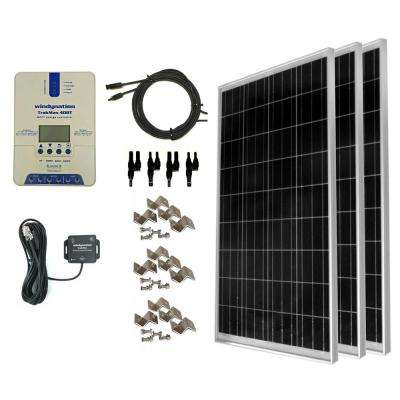 300-Watt Off-Grid Polycrystalline Solar Panel Kit with TrakMax MPPT 40 Amp Solar Charge Controller and Bluetooth Adapter