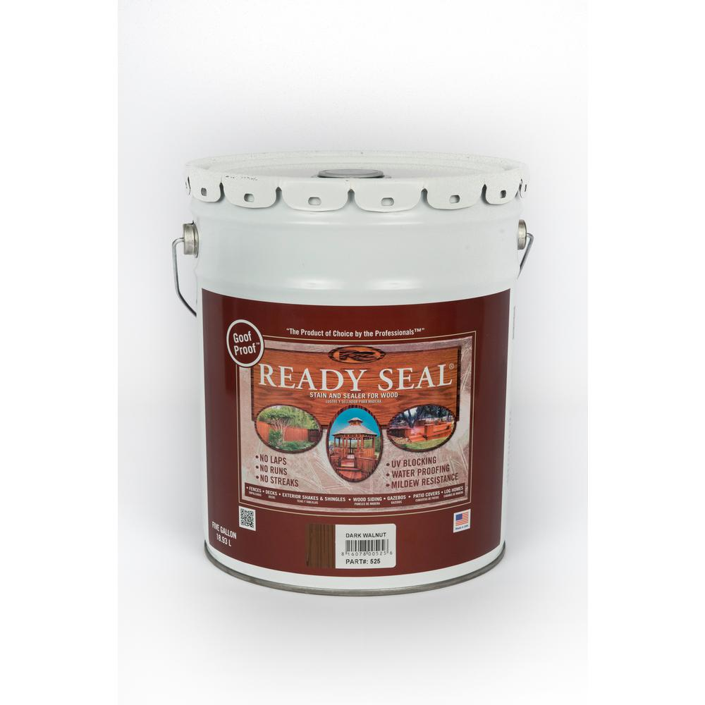 Ready Seal 5 Gal Dark Walnut Exterior Wood Stain And