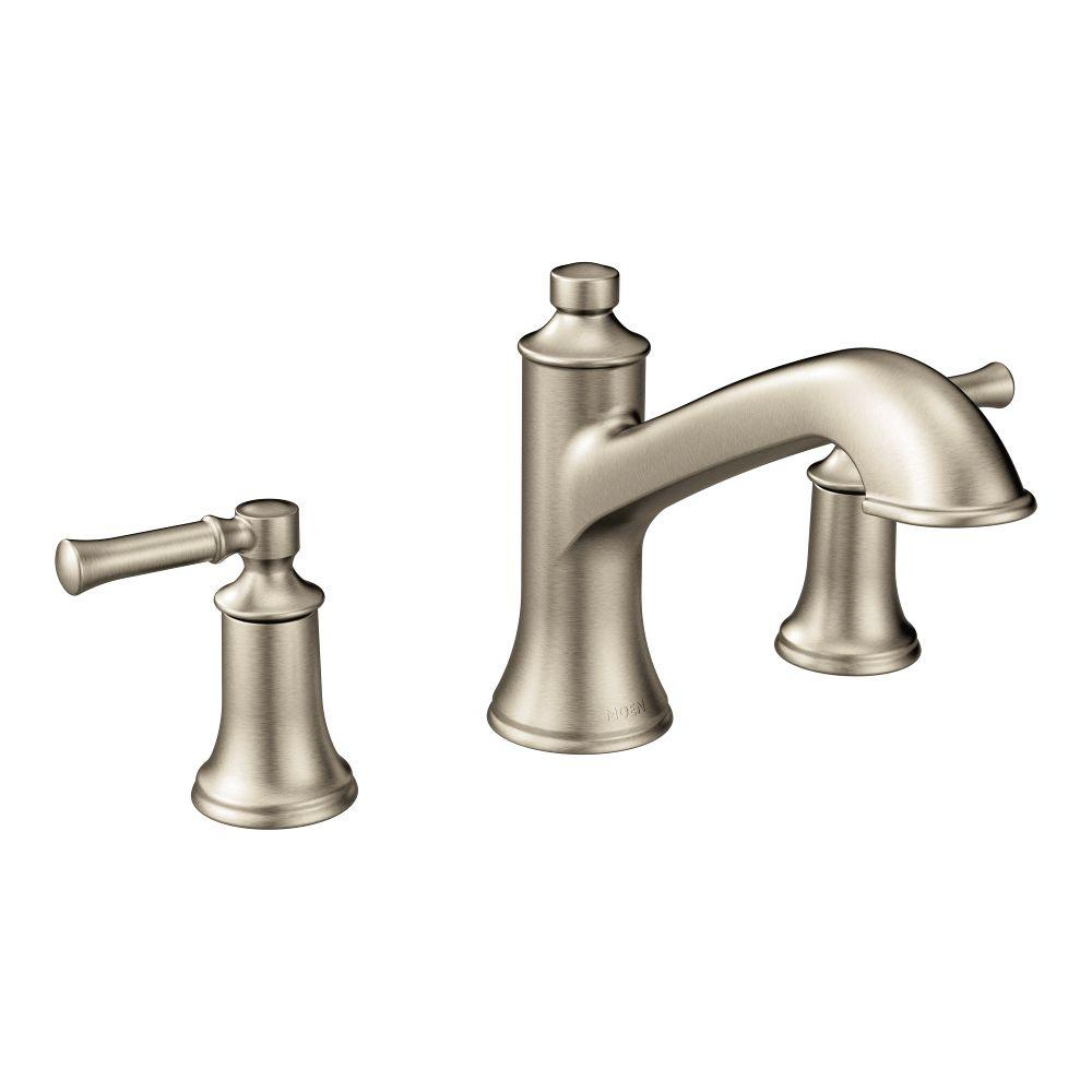 Dartmoor 8 in. Widespread 2-Handle Roman Tub Bathroom Faucet in Brushed