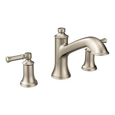 Dartmoor 8 in. Widespread 2-Handle Roman Tub Bathroom Faucet in Brushed Nickel (Valve Not Included)