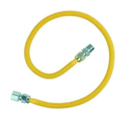 ProCoat 1/2 in. FIP x 1/2 in. MIP x 36 in. Stainless Steel Gas Connector 1/2 in. O.D. (71,100 BTU)