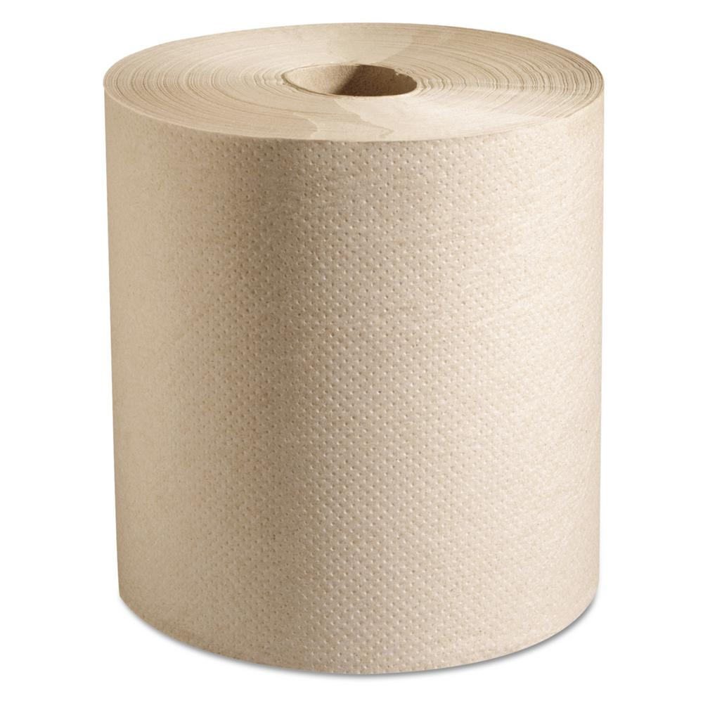 Natural 7-7/8 x 800 ft. 100% Recycled Hardwound Roll Paper Towels