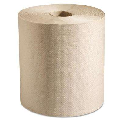 Natural 7-7/8 x 800 ft. 100% Recycled Hardwound Roll Paper Towels (6 Rolls/Carton)