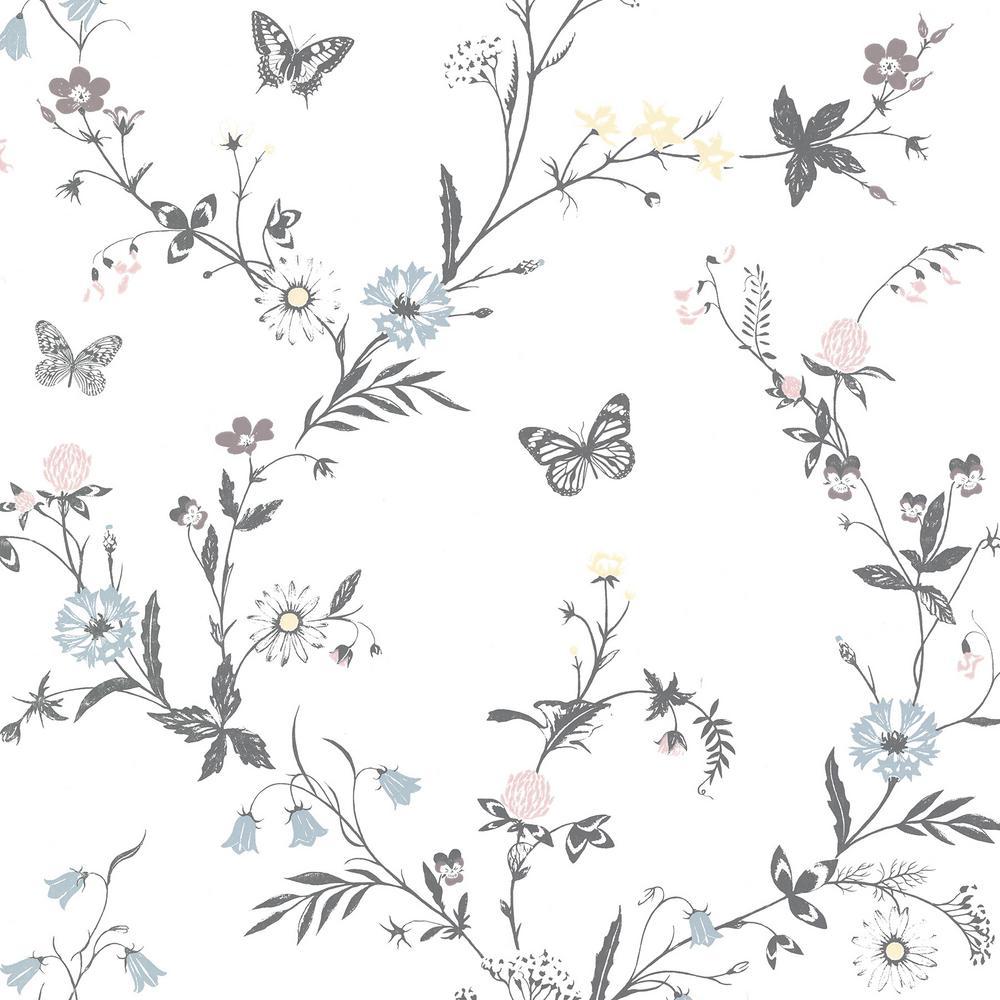 Jamie White Botanical Wallpaper Sample