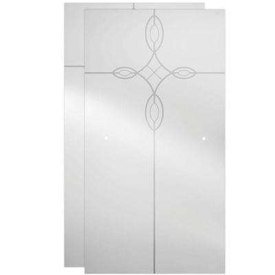 60 in. Sliding Bathtub Door Glass Panels in Tranquility (1-Pair)