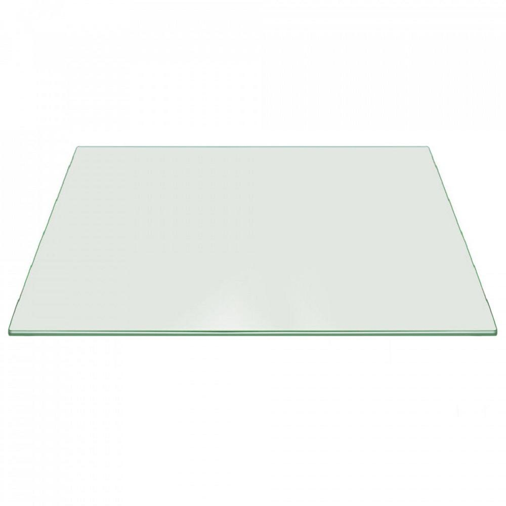 tempered glass table top Fab Glass and Mirror 16 in. x 30 in. Clear Rectangle Glass Table  tempered glass table top