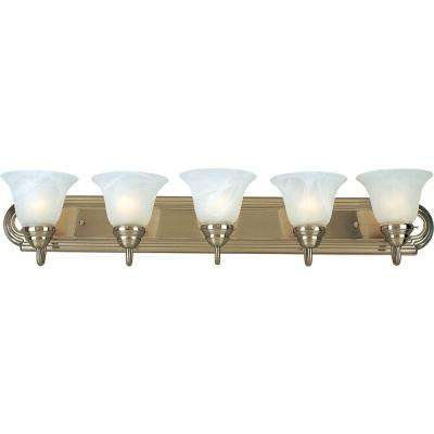 Essentials 5-Light Satin Nickel Bath Vanity