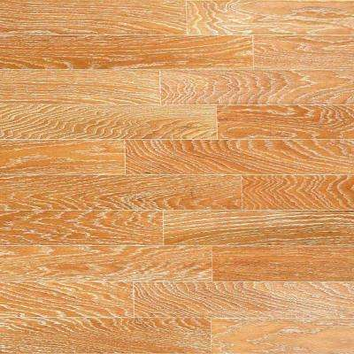 Brushed Oak Canvas 3/8 in. Thick x 6-1/4 in. Wide x Random Length Engineered Click Hardwood Flooring (32.2 sq. ft./case)