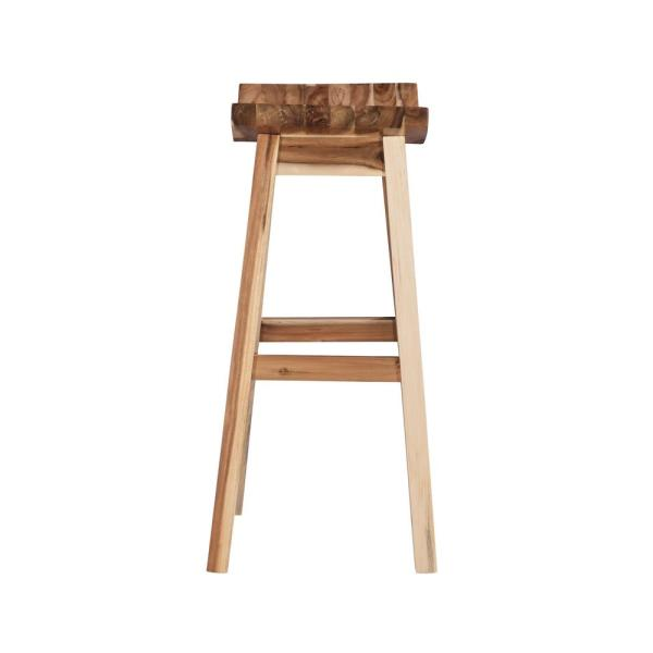 Powell Company 30 In Dale Saddle Light Natural Bar Stool D1020b16bs The Home Depot