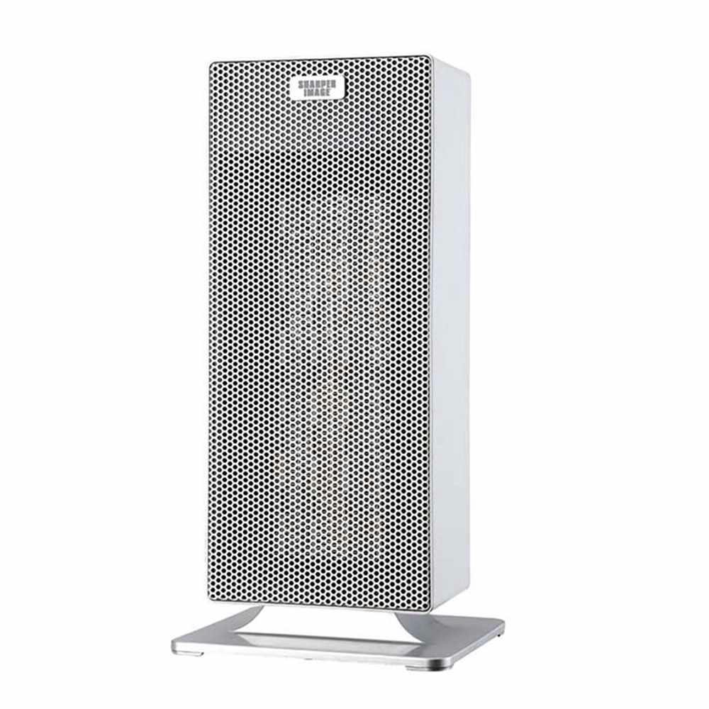 15 in. White Ceramic Tower Heater