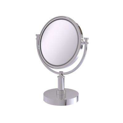 8 Inch Vanity Top Make-Up Mirror 5X Magnification in Polished Chrome