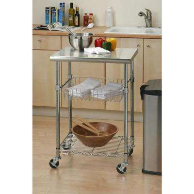 Attrayant Stainless Steel Kitchen Cart With Shelf