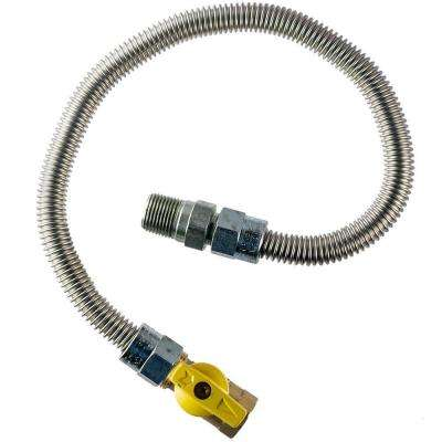 3/8 in. MIP x 1/2 in.  FIP Gas Valve x 24 in.  Heater Connector 3/8 in O.D.